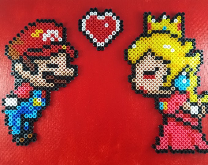 Mario and Princess Peach - 8 x 10 Canvas