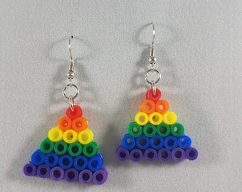 Rainbow Gay Pride Hook Earrings