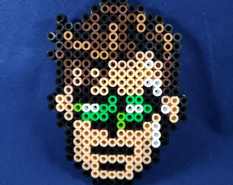 Green Lantern Headshot Perler