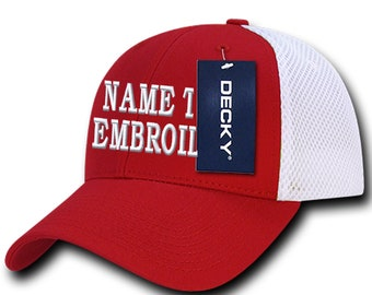 Custom Made Personalized Baseball Cap Trucker Hat Embroidery Name Message
