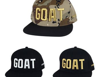 Caprobot 3D Embroidery GOAT Snapback Hat Cap ( More Color ) 5eabd7bfe086