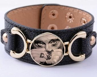 Bracelet cuir Johnny Hallyday