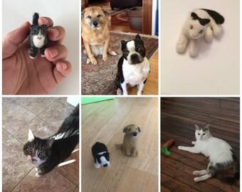 Custom Felted Animals