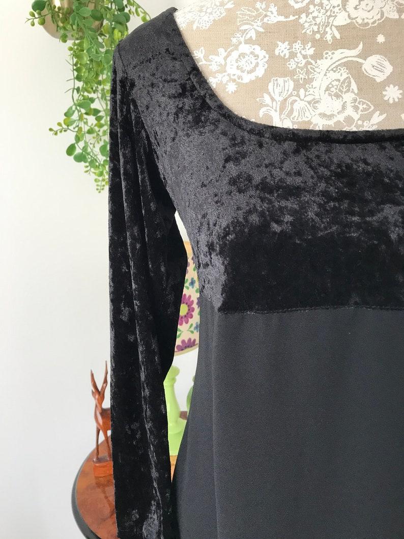 Vintage 90\u2019s does 70\u2019s Black Crushed Velvet Maxi Dress Hippy Boho Witch Vamp