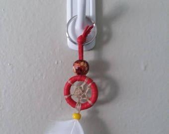 Red 1 inch Keychain Dream Catcher
