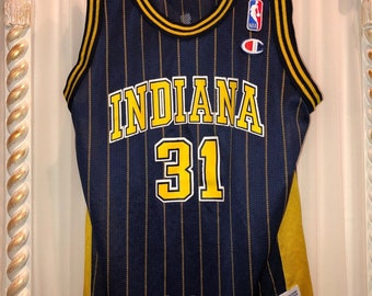 d3d2822d4f909 Vintage Champion Indiana Pacers Reggie Miller Jersey Size M10-12