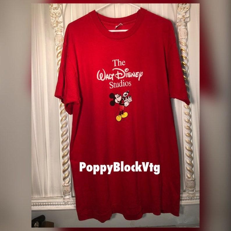 c737062ba7fc The Walt Disney Studios Red T Shirt Xl | Etsy