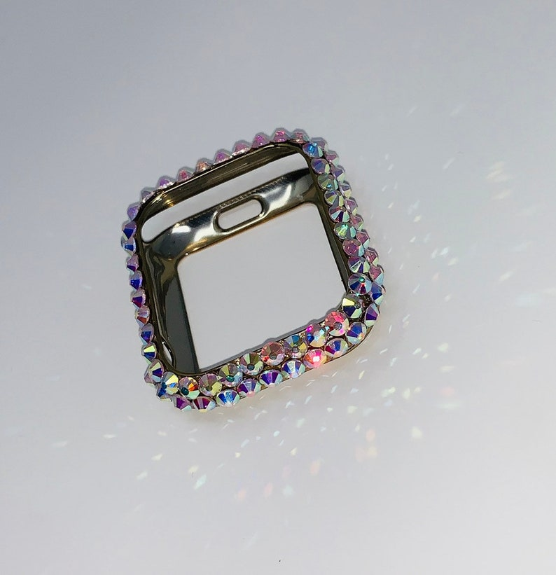outlet store 89d69 1ad2c Apple Watch Series 4 Swarovski Crystals Case - Custom Apple Watch Case -  Bling Apple Watch Case - Glitter Apple Watch Case - Watch Case