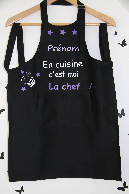 tablier de cuisine enfant personnalisable avec pr nom etsy