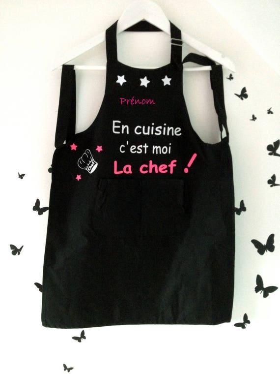 Tablier de cuisine enfant personnalisable avec pr nom etsy - Tablier de cuisine personnalisable ...