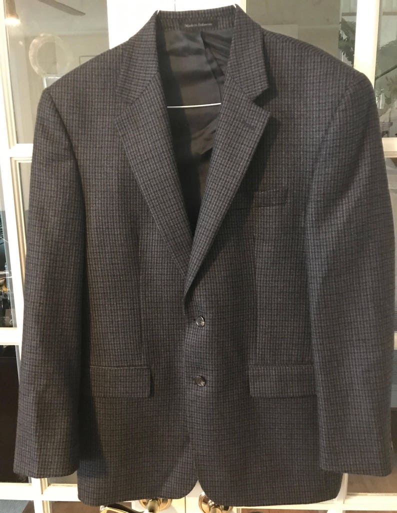 Vintage Chaps By Ralph Lauren Tweed Plaid Jacket Size 42r Last Style Men's Clothing