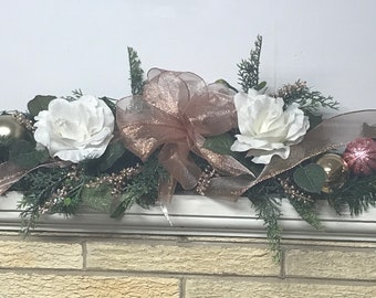 Rose Gold Christmas Garland Etsy