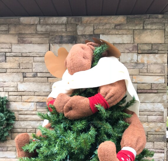 image 0 - Unique Handcrafted Moose Tree Topper-Unique Christmas Tree Etsy