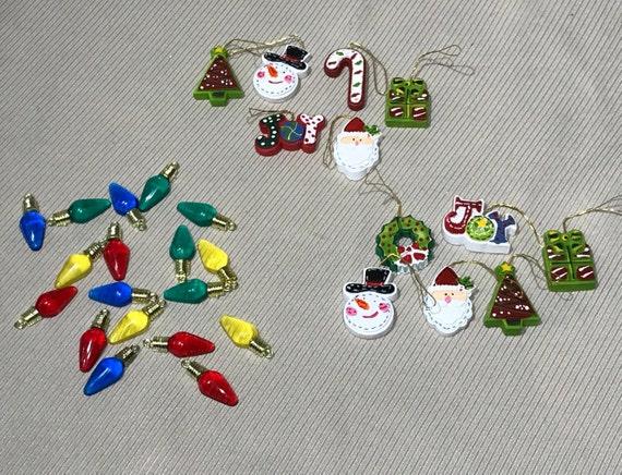 Miniature Christmas Ornaments.Set Of 6 Miniature Christmas Ornaments 3 Designs Mini Ornaments Craft Ornament Craft Embellishment Miniature Decoration Floral Embellishment