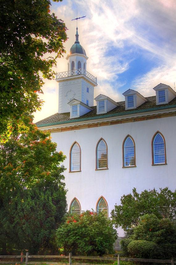 Kirtland Temple, Temple Picture, Home Decoration, Wall Art, Kirkland, Ohio  Landmarks, Community of Christ, Mormons, Latter-day Saints