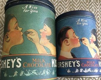 Hershey Kisses tin