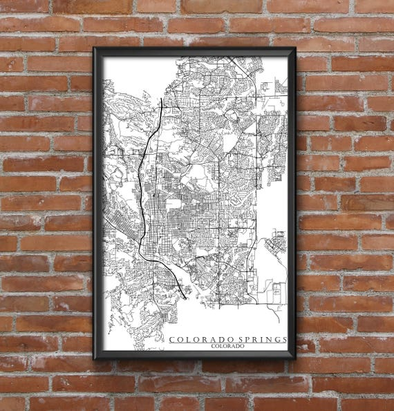 Colorado Springs Colorado Map Art | Etsy