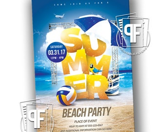 Summer Beach Party - Summer Beach Party Invitation - Beach Party Invitation - Beach Party Birthday