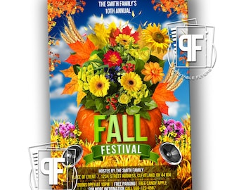 Fall Festival Flyer - Fall Festival Invitation - Fall Harvest Festival Invitation - Fall Festival Birthday Invitation - Fall Festival Party