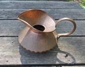 Vintage Solid Copper (Gregorian) Pitcher