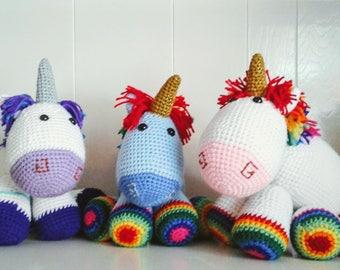 Custom Crochet Unicorn Stuffed Animal Plushie