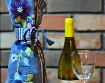 Upcycled Wine Bottle Gift Bag