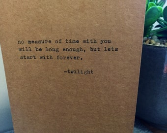 twilight quote card typewriter quote