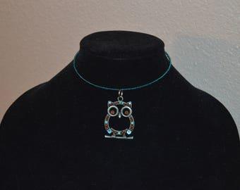 Beaded Owl Wire Flex Choker