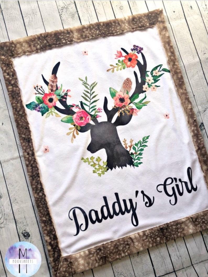 RTS Baby Size Daddys Girl Minky Blanket