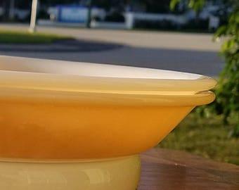 2 Fire King Peach Lustre Pie Pans EXCELLENT vintage condition