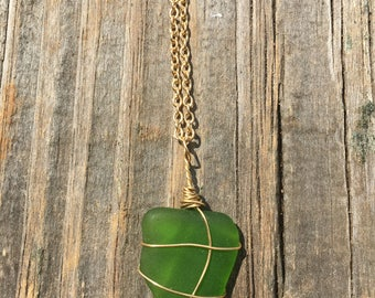 Wire Wrapped Sea Glass
