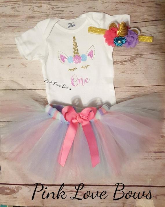 71ce18f96 Unicorn Super glitter tutu first birthday tutu outfit 1st | Etsy