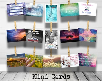 Kind Cards Inspirational Postcard Collection [Multiple Options Available]- Encouraging Kindness Postcards