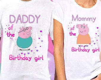 Peppa Pig Family Birthday ShirtPEPPA PIG Custom Shirt Personalized Shirtpeppa Shirts T