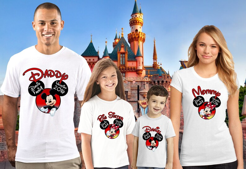 Disney Family Birthday Shirt Custom