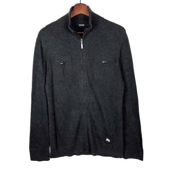 Burberry black label zipper pocket jacket sweatshi