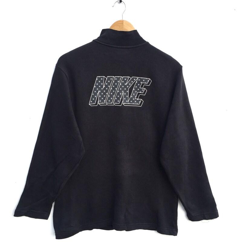 90badb0e1389e Nike swoosh Sweatshirt halfzip big spell out vintage 90's nike Sweatshirt  hoodie pullover jumper hiphop swagger street wear size L