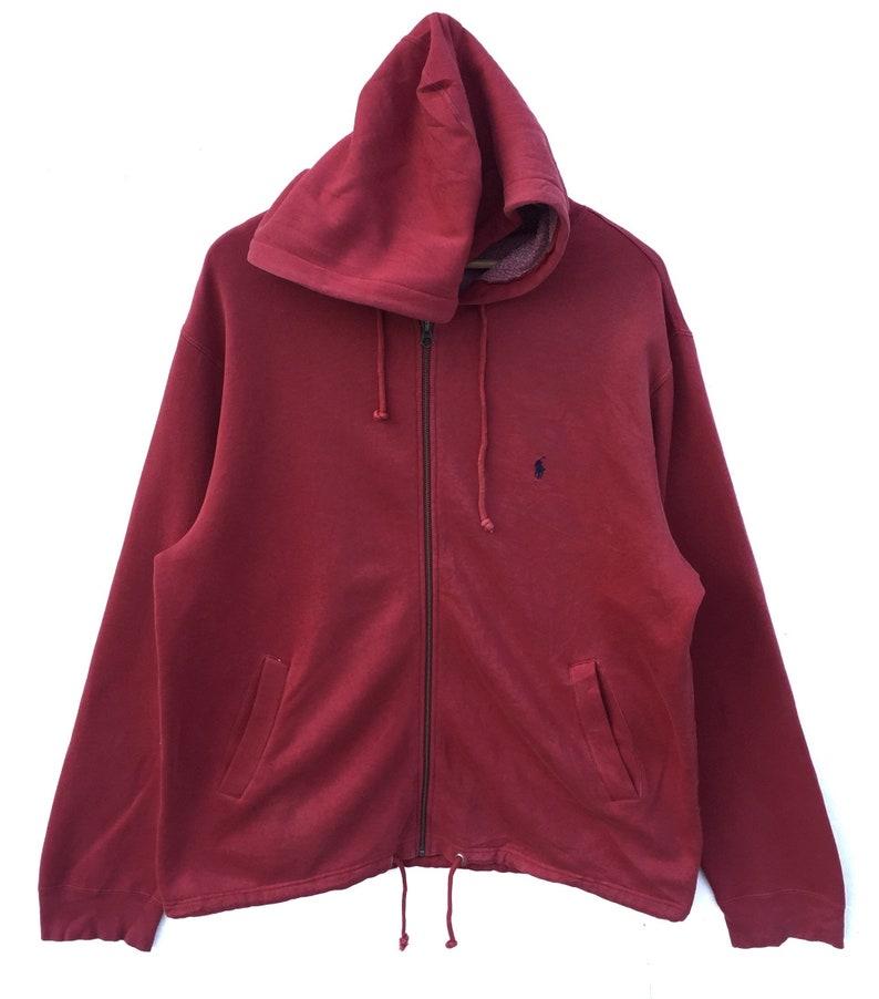 f6dbfafc9967 Polo Small Pony Sweatshirt zipper hoodie Ralph Lauren LARGE