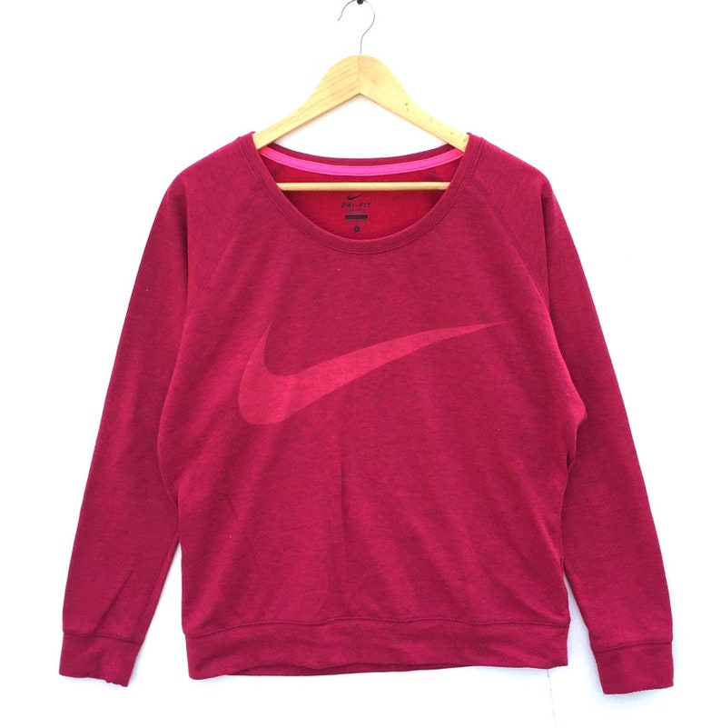 42cc75316 Nike Sweatshirt big Swoosh Logo ladies sweatshirt pink colour