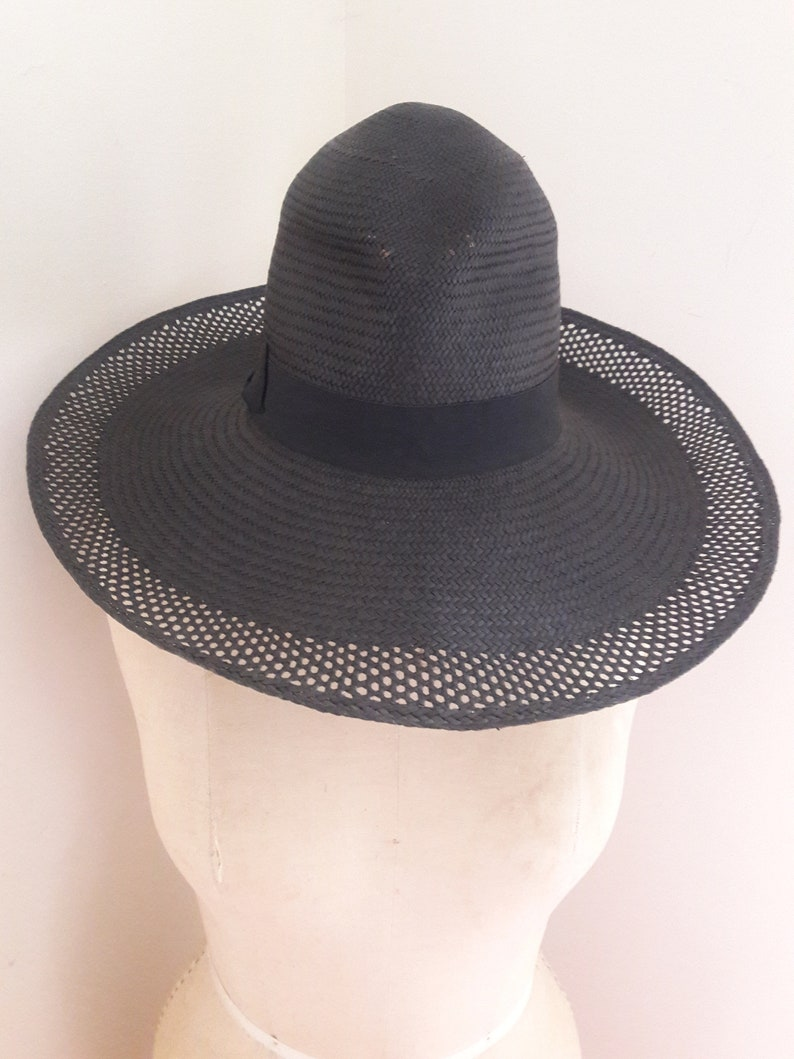 10dc6f1e458d SUMMER SALE 25% OFF Designer Wide Brim Straw Sun Hat by Lola | Etsy