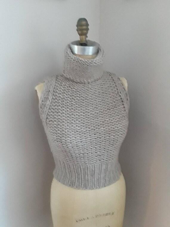 90s ITALIAN CASHMERE Vintage Handknit Luxury Sleev