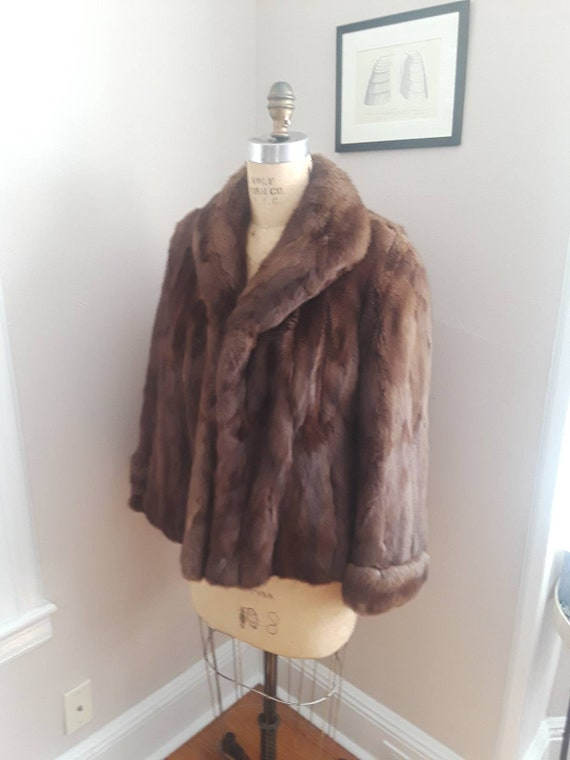 KISSING FRONT SABLE Vintage 40s Crop Designer Fur
