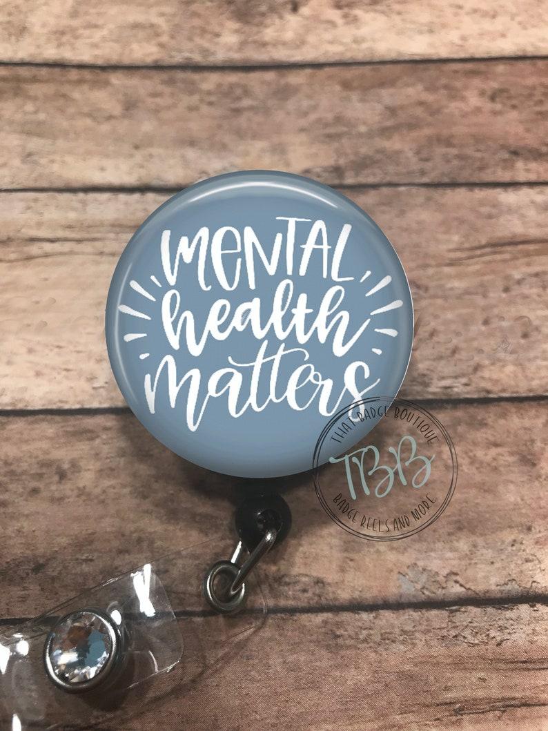 stethoscope ID tag lanyard Mental health matters badge clip badge holder badge reel retractable badge reel