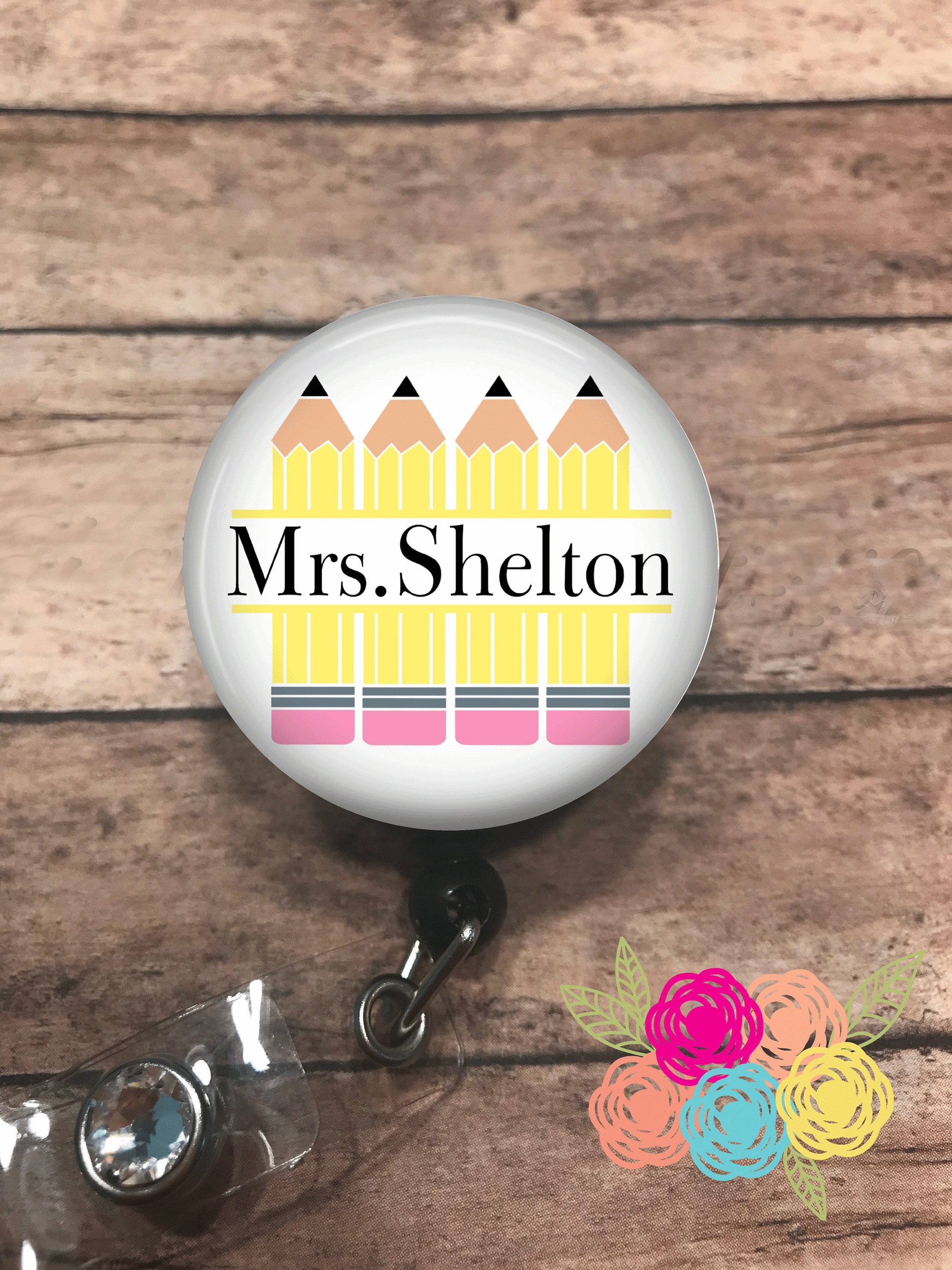 Personalised teacher ID Lanyard Badge Card Holder With Name Tag Strong Clip AUS