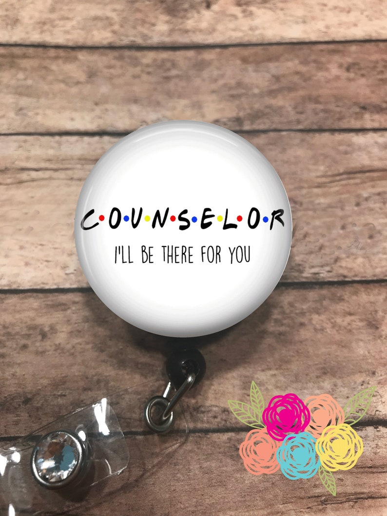 Counselor  badge reel  lanyard  stethoscope ID tag  image 0