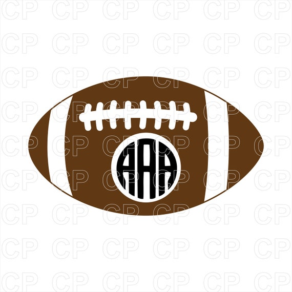 Football SVG Cut Files Football Clipart Football Monogram | Etsy