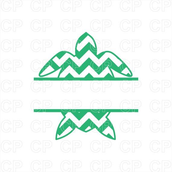Sea Turtle Svg Cut Files Turtle Clipart Turtle Monogram Etsy