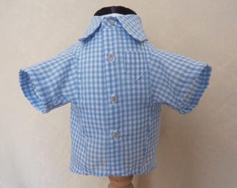 Gingham button up shirt for dogs