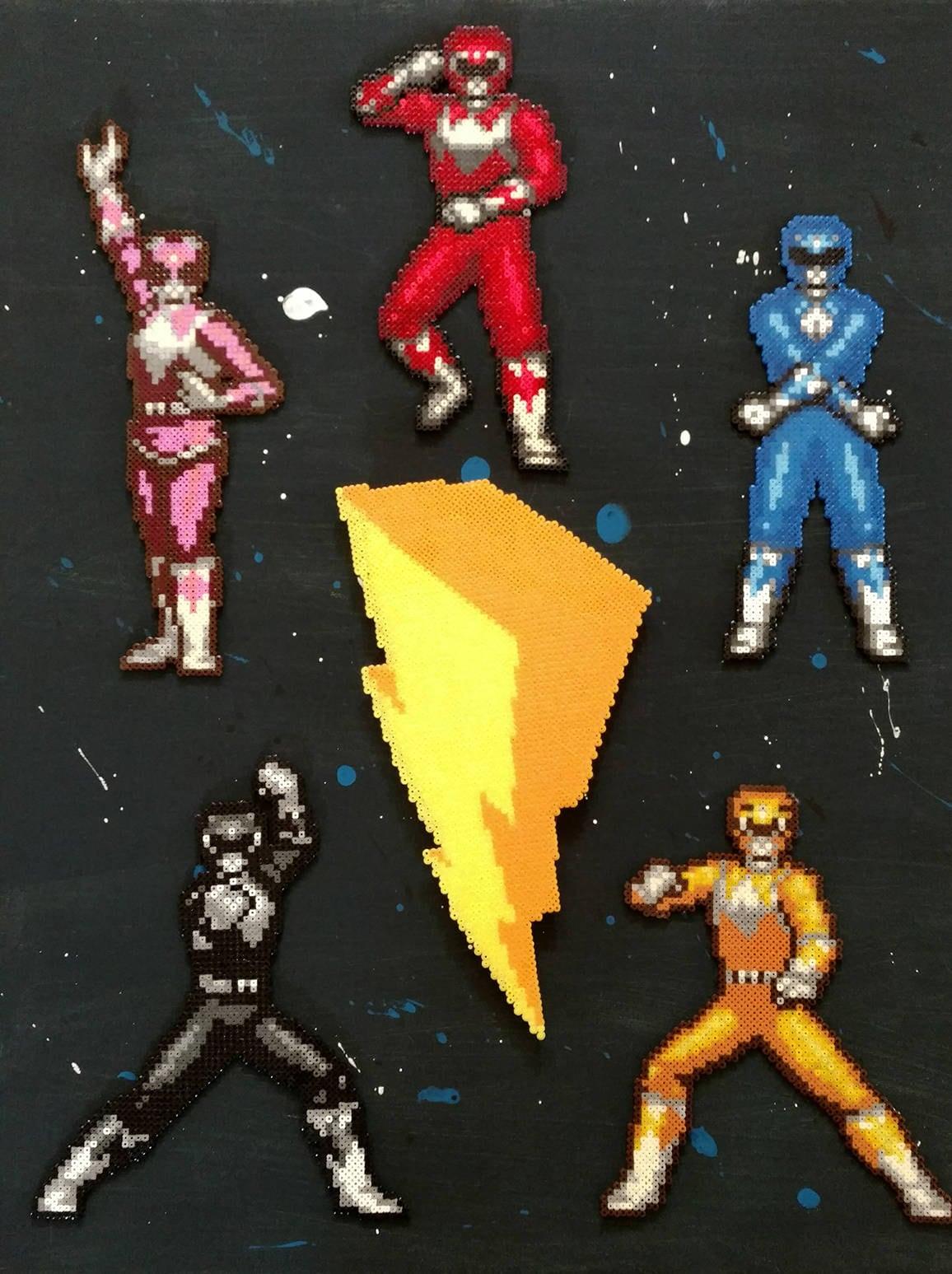 Power Rangers Mini Hama Bead Canvas Art | Etsy