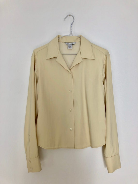 Vintage 'GUESS COLLECTION' Buttery Yellow Button U